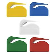 Brieföffner - Kunststoff, Metallklinge - ca. B5xT0,5xH7 cm, Blau, Auswahl Werbeanbringung optional