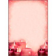 Briefpapier met kerstthema Sigel Red Candlelight, A4, 90 g/m², 100 vellen