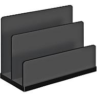Briefständer WEDO Black Office, schwarz mattiert/glänzend, 2 Fächer