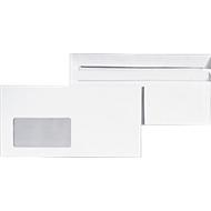 Briefumschläge, 235 x 125 mm, mit Fenster, selbstklebend, 1000 Stück