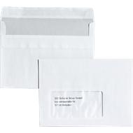 Briefumschläge, DIN C6, mit Fenster, haftklebend, 25 Stück