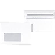 Briefumschläge, DIN C6, mit Fenster, selbstklebend, 1000 Stück