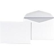 Briefumschläge, DIN C6, ohne Fenster, gummiert, 1000 Stück