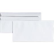 Briefumschläge, DIN lang, ohne Fenster, selbstklebend, 100 Stück