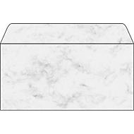 Briefumschläge Marmor, grau, 50 Stück