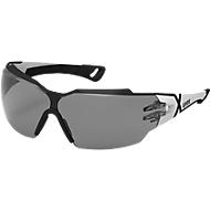 Bril met veren Uvex pheos cx2, EN 166, EN 172, polycarbonaat grijs, frame zwart/wit, 5 stuks