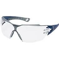 Bril met veren Uvex pheos cx2 fbl sv, EN 166, EN 170, polycarbonaat helder, frame blauw/grijs, 5 stuks