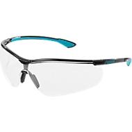 Bril met veren uvex sportstyle, zwart/petrol, 5 stuks