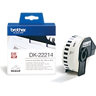 BROTHER Endlos-Etikett DK-22214, 12mm x 30,48m, Papier weiß