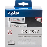Brother Endlosetikett DK-22251, Papier, Rot-Schwarz-Druck