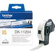 brother individuele etiketten op rol, DK-11204, multifunctioneel, 17 x 54 mm, papier, wit, 400 etiketten