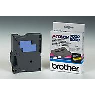 Brother lint beletteringssysteem TX-611, 6 mm breed, geel/zwart