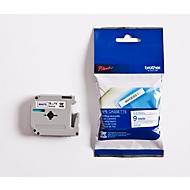Brother M-Schriftbandkassette K 223, 9 mm, weiß/blau