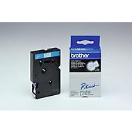 Brother Schriftbandkassette TC-293, 9 mm breit, weiß/blau