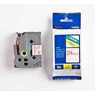 Brother Schriftbandkassette TZe-252, 24 mm, weiß/rot