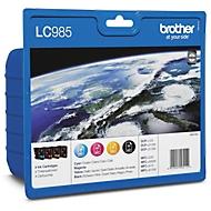 Brother voordeelpakket 4 inktcartridges LC-985BK/C/M/Y zwart, cyaan, magenta, geel