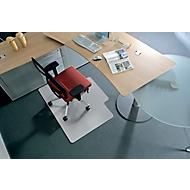 BSM bureaustoelmat vorm C, Voor harde vloeren, 1300 x 1200 mm