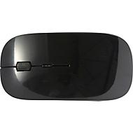 BT-Wireless-Maus Silicon Valley, 2,4 GHz, versteckter Empfänger, ABS, schwarz, Werbefläche