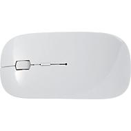 BT-Wireless-Maus Silicon Valley, 2,4 GHz, versteckter Empfänger, ABS, weiß, Werbefläche