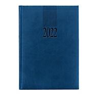 Buchkalender Tucson, 416 Seiten, B 150 x T 30 x H 210 mm, Werbedruck 100 x 80 mm, blau