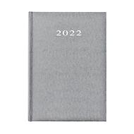 Buchkalender Vega, 360 Seiten, B 150 x T 210 x H 210 mm, Werbedruck, 100 x 80 mm, silber