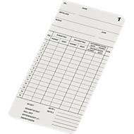 BÜRK Stempelkarte, doppelseitig, für Zeiterfassungsgerät K800/K895/K1300, 500 Stück