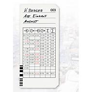 BÜRK Stempelkarte, kodiert, für Zeiterfassungsgerät K675/K975, 200 Stück