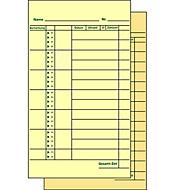 BÜRK Stempelkarte, Monats-Lohnkarte, für Zeiterfassungsgerät, ZS3200/ZS5200, 500 Stück