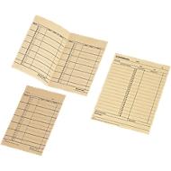 BÜRK Stempelkarte, Wochen-Lohnkarte, für Zeiterfassungsgerät ZS3200/ZS5200, 500 Stück