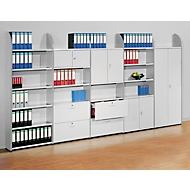 Büroregal Dante®, Regalfeld, H 2250 x B 800 mm, ohne Rückwand, lichtgrau