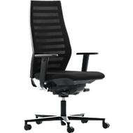 Bürostuhl R 12, mit Armlehnen, Gestell schwarz, schwarz