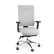Bürostuhl SSI PROLINE P3+, Synchronmechanik, ohne Armlehnen, Lendenwirbelstütze, 3D-Sitzgelenk, grau
