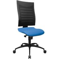 Bürostuhl SSI PROLINE S1, Synchronmechanik, ohne Armlehnen, 3D-Netz-Rückenlehne, Bandscheibensitz, blau/schwarz