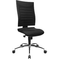 Bürostuhl SSI PROLINE S2, Synchronmechanik, ohne Armlehnen, 3D-Netz-Rückenlehne, Bandscheibensitz, schwarz/schwarz