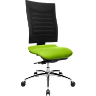 Bürostuhl SSI Proline S3, ohne Armlehnen, Synchronmechanik, ergonomische Lehne, apfelgrün/schwarz