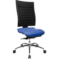 Bürostuhl SSI Proline S3, ohne Armlehnen, Synchronmechanik, ergonomische Lehne, blau/schwarz