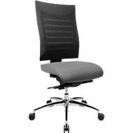 Bürostuhl SSI PROLINE S3+, Synchronmechanik, ohne Armlehnen, 3D-Netz-Rückenlehne, 3D-Sitzgelenk, grau/schwarz