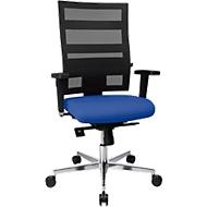 Bürostuhl Topstar SITNESS X-PANDER Plus, Synchronmechanik, 3D Sitzfläche, Netz-Optik, blau