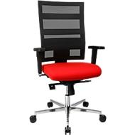 Bürostuhl Topstar SITNESS X-PANDER Plus, Synchronmechanik, 3D Sitzfläche, Netz-Optik, rot