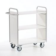 Bürowagen mit Seitenwänden, 800 x 500 mm, Tragkraft 150 kg