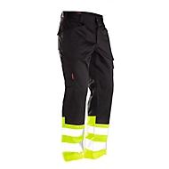 Bundhose Jobman 2314 PRACTICAL, Hi-Vis, EN ISO 20471 Klasse 1, schwarz I gelb, 27