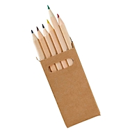 Buntstifte-Set, 6-tlg, flacher Karton, Standard, Standard