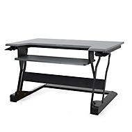 Bureau assis-debout Ergotron WorkFit-T, hauteur ajustable, dimensions l 889 x P 584 mm, noir