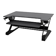 Bureau assis-debout Ergotron WorkFit-T, hauteur ajustable, dimensions l 950 x P 640 mm, noir
