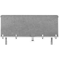 Bureaublad akoestische scheidingswand BE Veiligheidsscherm Achterwand, zonder acrylraam, dikte 10 mm, B 120 x H 60 mm, lichtgrijs