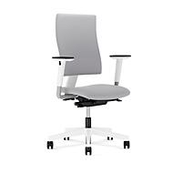 Bureaustoel 4ME, zonder armleuningen, wit/grijs
