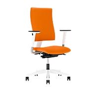 Bureaustoel 4ME, zonder armleuningen, wit/oranje