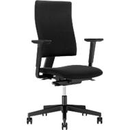 Bureaustoel 4ME, zonder armleuningen, zwart/zwart