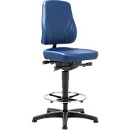Bureaustoel All-In-One 9631, opstaphulp en glijders, kunstleer, skai blauw