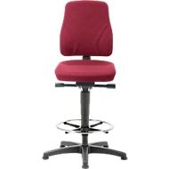 Bureaustoel All-In-One 9631, opstaphulp en glijders, stoffen bekleding, Duotec rood